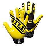 Best Football Gloves For Receivers - Battle Football Glove, Neon Yellow/Black, Adult XX-Large Review