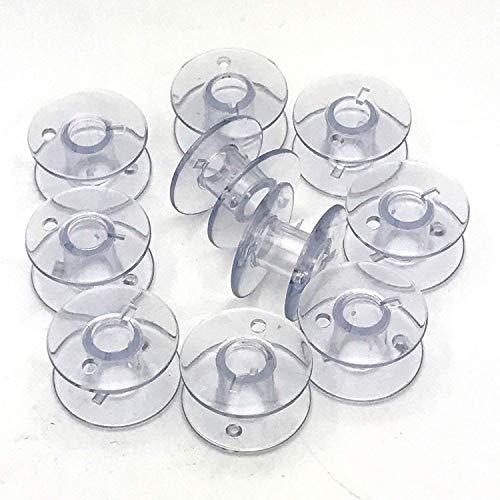 La Canilla ® - Brother Spulen Spulen Nähmaschine Packung mit 10 für Singer, Janome, AEG, W6, Medion, Privileg und viele weitere Modelle