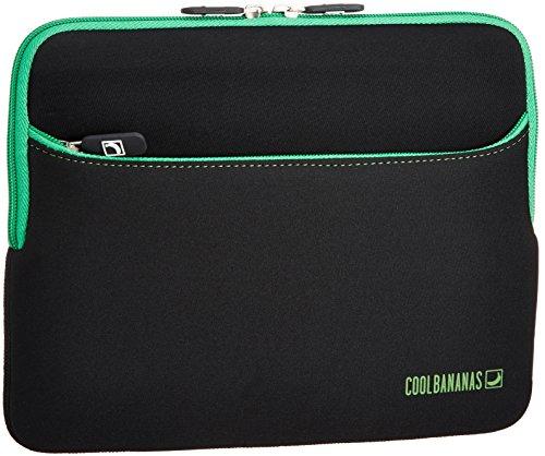 COOL BANANAS RainSuit Hülle für das Apple iPad 2, 3, 4 | zusätzliche Tasche für Zubehör | Sleeve aus hochwertigem Neopren für perfekten Schutz | wasserabweisend und stoßfest | Case in Farbe Grün -