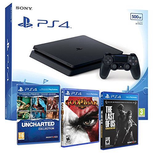 playstation-4-consola-ps4-slim-500gb-5-juegos-the-last-of-us-god-of-war-3-uncharted-nathan-drake-col
