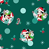 Spring's Creative Jersey Stoff – Mickey Mouse Christmas