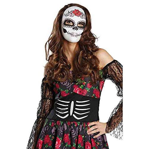 (Kostüm Zubehör Maske La Catrina Day of The Dead Karneval Halloween)
