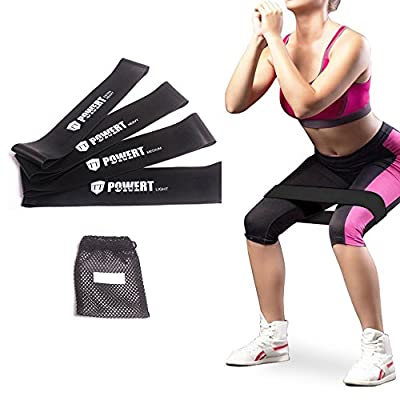 Resistance Loop Bands, Triumilynn Therapy Exercise Bands with Carrying Bag, Set of 4, Light Medium Heavy X-heavy for Strength & Fitness, Workout & Physical Therapy from TTCZ