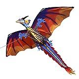 Lixada 3D Cerf-Volant Géant Parafoil sans Cadre Géant Volant Cerf-Volant (Rouge)