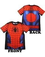 Marvel Comics Spiderman Costume Athletic Performance Premium Men's T-Shirt