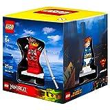 Lego Ziel Winter 2015 Minifigur Geschenkbox Promo Kubisch 5004077 - Blitz Junge + Sir Fangar + Kai Stein Armour + Stadt Scuba Diver