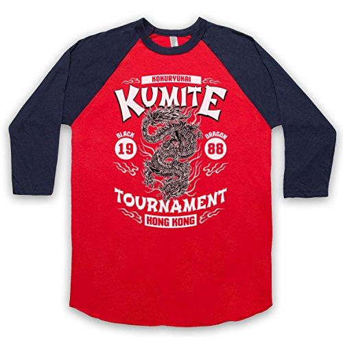 Bloodsport Kumite 1988 Black Dragon Tournament 3/4 Manches Retro T-Shirt de Base-Ball