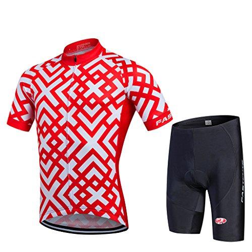 FASTCURE Herren Radtrikot Pro Team Short Sleeve + 3D Padded Shorts Set, Herren, Farbe 2, Medium