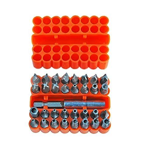 showhas 3325mm Sicherheit Bit Set CR-V Hand Werkzeug Kunststoff Fall