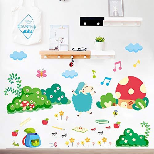 (Sheep Ant Biene Dekorative Wandaufkleber Cartoon Tierpflanze PVC Dekorative Wandkunst DIY Wandtattoo)