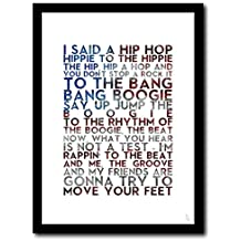 THE SUGARHILL GANG - Rapper's Delight - A3 typography poster art limited edition print rap hip hop