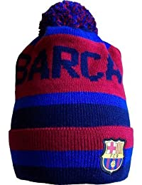 Bonnet - Collection officielle - supporter FC Barcelone Barcelona - Barca - Football Liga Espagne - Taille unique adulte ado