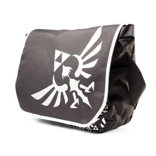 Legend Of Zelda Logo borsa Nintendo Messenger Bag scomparto grande logo print