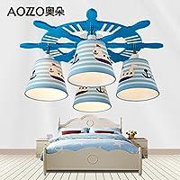 Beata.T Stanza dei bambini Led creative calde Cartoon camera da letto occhio lampade, 60cm di luce a