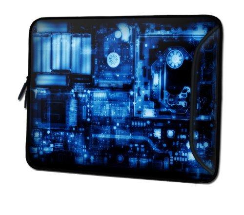 Sidorenko DesignerLaptoptasche mit Zusatzfach für Maus und Ladegerät an der Vorderseite der Notebooktasche // Größe 34,0 cm von 13