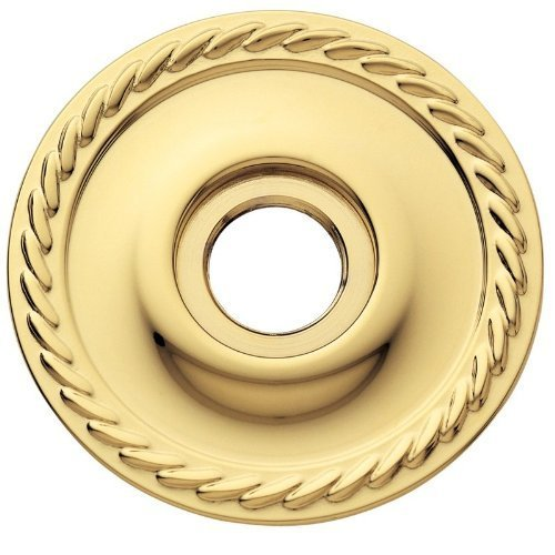Estate Rosetten (Baldwin 5149 Pair of Estate Rosettes for Privacy Functions, Polished Brass by Baldwin)