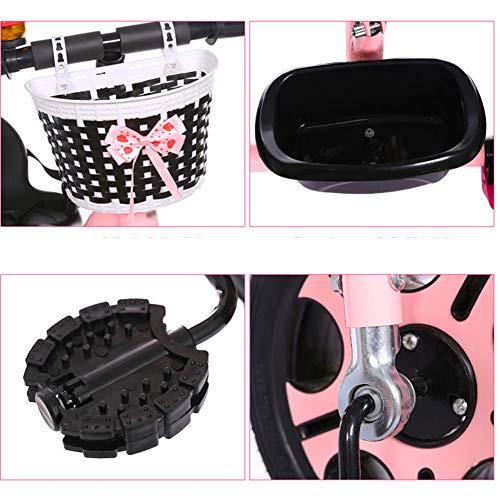 GSDZSY - Children Tricycle 3 Wheel Bike 2 In1, With Removable Push Handle Bar,EVA Soft Wheel, Non-slip Pedal, Rear Wheel With Brake,2-6years,Pink  GSDZSY