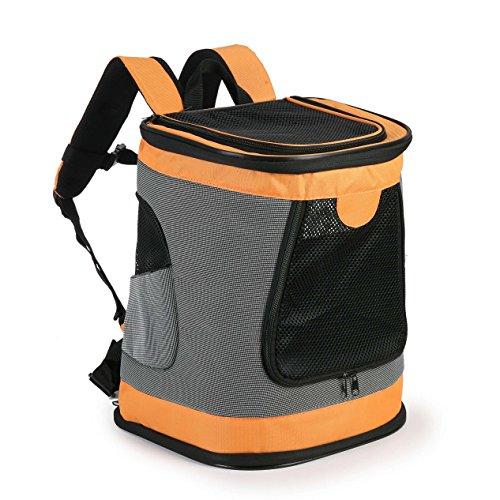 Muodu Weichen Katze Hund Carrier Rucksack, Entworfen für Reisen, Wandern, Walking Outdoor-Verwendung, Pet bis zu 18~ 22Pfund, Pets up to 22 lbs, Orange