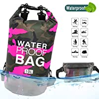 Idefair Waterproof Dry Bag, Floating Dry Backpack Beach bag Lightweight Dry Sack for The Beach, Boating, Fishing, Kayaking, Swimming, Rafting,Camping10L 20L 30L
