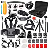 Bestter 52-in-1 Accessori Kit con Borsa, Varie Cinghie per GoPro Hero 5 Session/Hero Session/Hero 6 5 4 SJ4000 SJ7000 DBPOWER AKASO VicTsing APEMAN WiMiUS Rollei QUMOX Lightdow Campark e Sony Sport DV