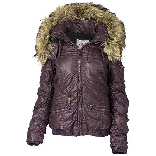 Khujo giacca invernale da donna con cappuccio pelliccia sintetica Sassafras s