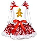Robe de Noël Homme Pain d'épices Coton Blanc L/S Chemise Rouge Flocon de neige Jupe 1–8Y -  Rouge - XL