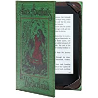 "KleverCase ""Alice in Wonderland"" Book Cover for Amazon Kindle, Paperwhite and Touch Screen e-Readers"