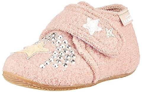 Living Kitzbühel Baby Mädchen Babyklettschuh Einhorn Aurora Krabbelschuhe, Pink (Woodrose), 28 EU (Kind Aurora Ballerina)