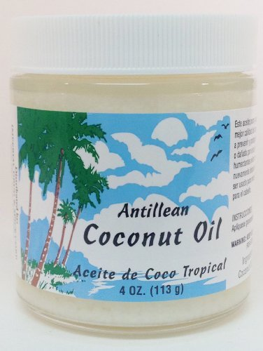 Antillean Coconut Oil 4 oz. Aceite Coco by Imperial Drug & Spice Corp. (English Manual)