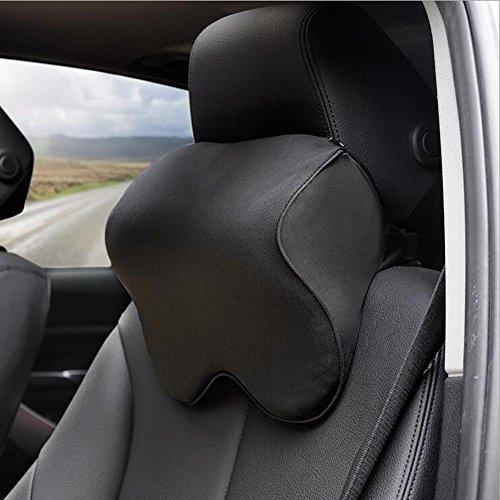 QLL HuanLeBao Auto Sitz Nackenkissen Einstellbare Band Memory Foam Auto Kopfstütze , Black