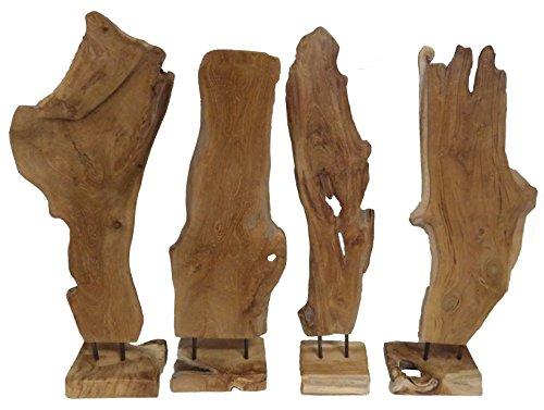 Beho Natürlich gut in Holz Teakholz Skulptur auf Ständer ca.Höhe 60 cm hoch Deko Unikat Handarbeit
