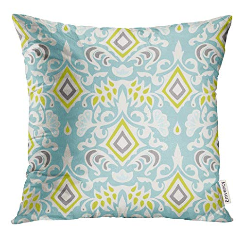 Ikat-sham (Throw Pillow Cover Ikat Abstract Vintage Luxury Ornamental Pattern Medallion Decorative Pillow Case Home Decor Square 18x18 Inches Pillowcase)