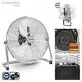 TROTEC Ventilateur de sol TVM 18 | Puissance de 120 watts | 3 niveaux de vitesse | Tête du ventilateur inclinable à 100° | Diamètre des pales 45 cm