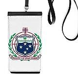 DIYthinker Samoa Faux emblème National Océanie Cuir Smartphone Bourse Hanging téléphone Noir Porte-Monnaie Cadeau