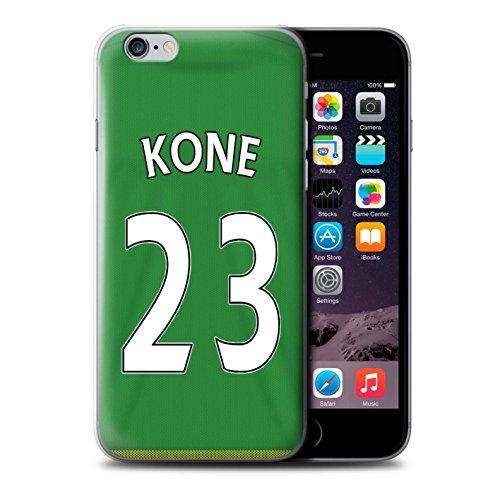 Officiel Sunderland AFC Coque / Etui pour Apple iPhone 6S / Brown Design / SAFC Maillot Extérieur 15/16 Collection Kone
