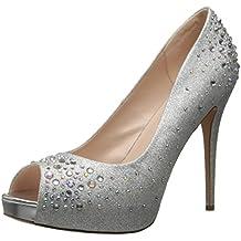 Pleaser Heiress 22r, Scarpe Peep-Toe (6 Sexy Silver Shoe)