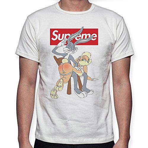 Beimpress t-shirt maglia lola bunny - replica - uomo donna unisex - bianca (l)