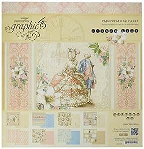 Graphic 45Papier doré Lily Pad, multicolore 30,5x 30,5cm