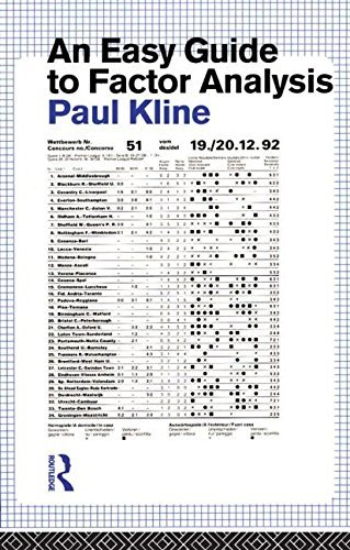 An Easy Guide to Factor Analysis by Paul Kline (1993-12-10)