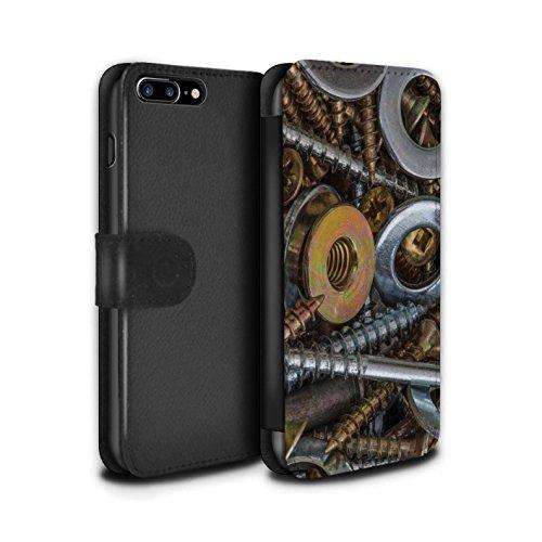 Stuff4 Coque/Etui/Housse Cuir PU Case/Cover pour Apple iPhone 7 Plus / Vis & Boulons Design / Matériel Bricolage Collection Vis & Rondelles