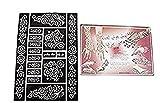 Henna Sticker temporäres Tattoo Körperkunst Mehndi Schablonenkunst Damen Eid Diwali Weihnachtsparty Fest 6 Blätter