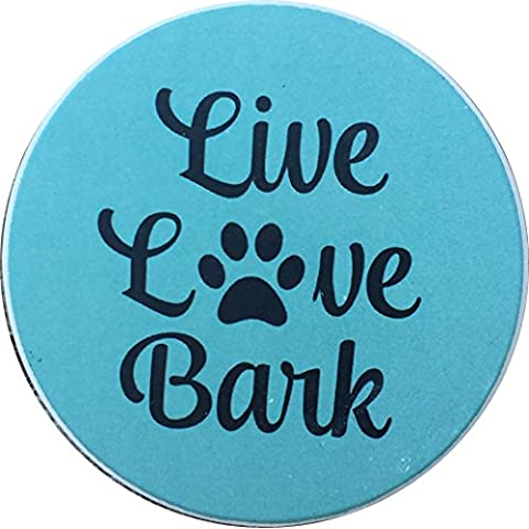 Live Love Bark Dog Car Auto Coaster