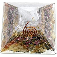 Golden Quartz + Multi Tourmaline + Selenite Orgonite Pyramid 3-3.5 inch Chakra & Reiki Healing Aura Cleansing... preisvergleich bei billige-tabletten.eu