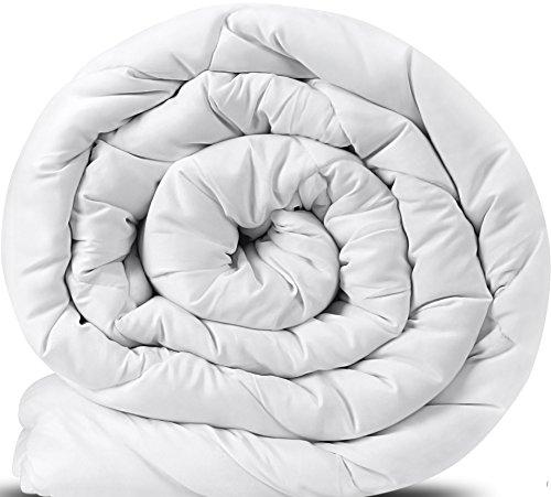 Edredón de fibra, fibra hueca siliconada, 810 gramo - Blanco 135 x 200 cm - Utopia bedding