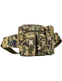 Electomania® Nylon Camo Waist Pack Bag Fanny Packs Waterproof Hip Belt Bag Pouch For Hiking Climbing Outdoor Bum...