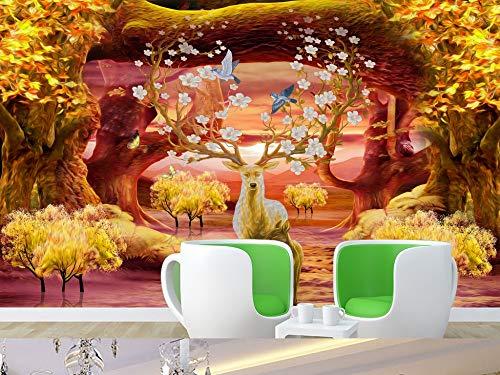 Gewohnheit Irgendeine Größe Höhle Stein Höhle Grüne Straße 3D Landschaft Hintergrund Wand Gehweg Gang Wohnzimmer Wandaufkleber Ausgangsdekor Tapete Wandbild (Ufc-gang)