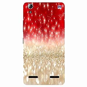 Red & Golden Design - Mobile Back Case Cover For Lenovo A6000