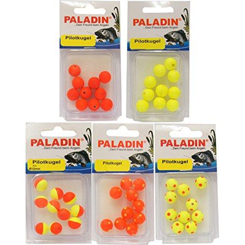 10 Pilotkugeln Posen Piloten Forellenposen rund, Durchmesser:8mm, Farbe:Gelb