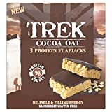 Trek Cocoa Oat Protein Flapjacks Chocolate Flavour Topped, 3 x 50 g