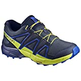 Salomon Unisex-Kinder Speedcross J Traillaufschuhe Blau (Ombre Blue/Sulphur Spring/Nautical 000) 35 EU